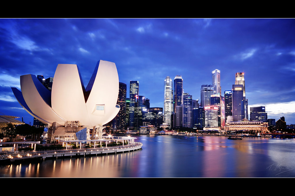 Art Science Museum and Central Business District, Singapore