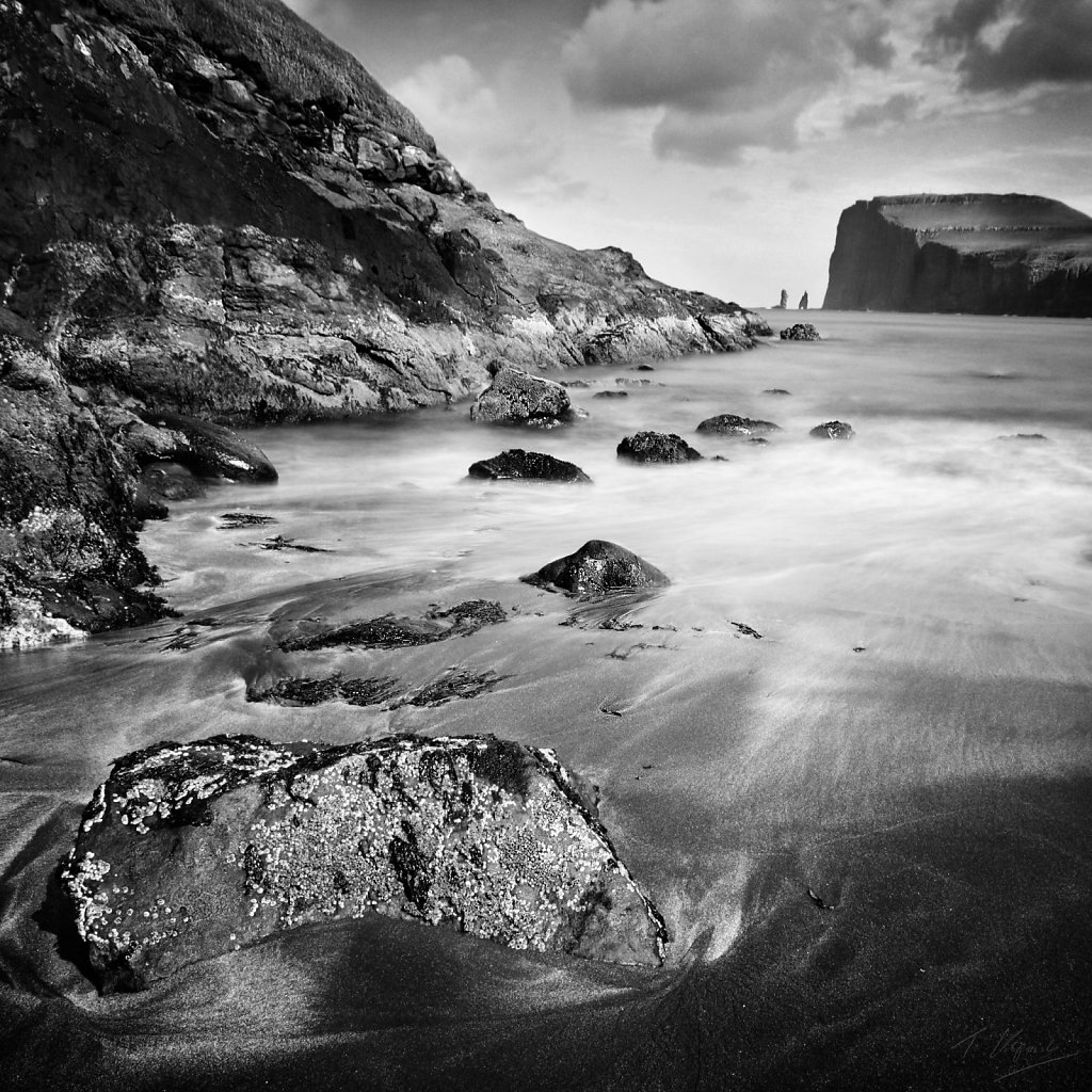 Beach in Tjornuvik, Faroe Islands